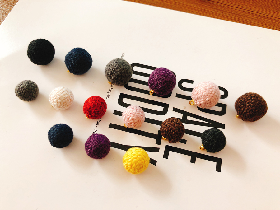 Imitated mink fur beads for jewelry making pendant ball diy material earrings jewelry findings line eardrop accessories handmade