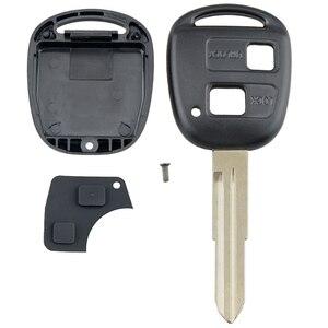Image 2 - Smart Remote Auto Schlüssel Shell Auto Auto Schlüssel Fall Ersatz mit TOY41 Uncut Klinge und Gummi Taste Pad Fit für toyota Yaris Auto