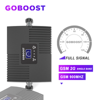 Repetidor gsm 2g mini impulsionador de sinal celular 65db 900 mhz gsm para telefones celulares amplificador com display lcd novo *