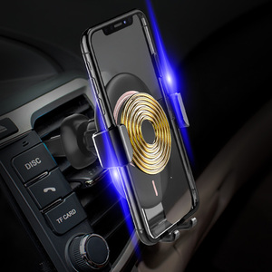 Image 5 - 10W 15W Qi Car Wireless Charger Air Vent Mount Phone Holder Full automatic Fast Charging For Samsung Galaxy S9 S10 iPhone X