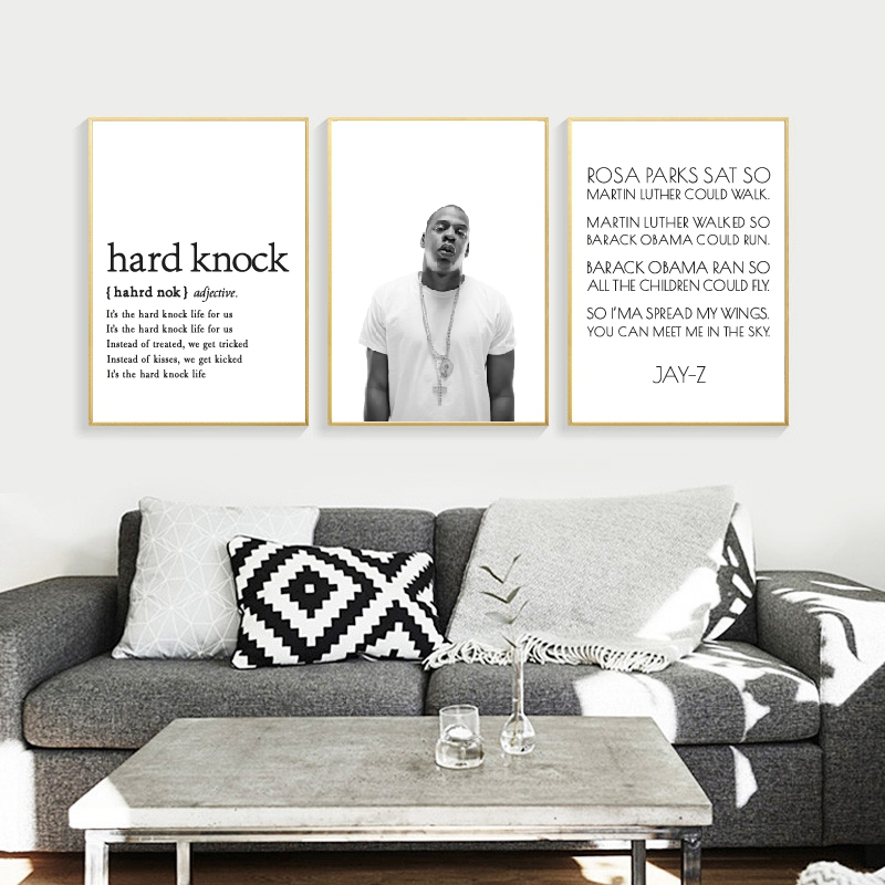 Jay Z Poster Hip Hop Print Rapper Quote Music Wall Art Canvas Painting Jay Z Lyrics Typography Picture Home Wall Decoration image
