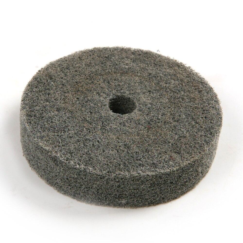 75mm Dia 11mm Hole Fiber Rotary Round Polishing Buffing Grinding Wheel Pad Mop