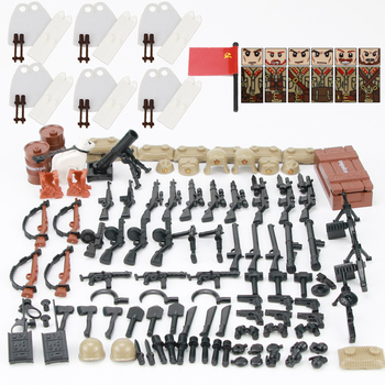 2017 new kazi 4pcs building blocks wolf tooth field team militray army weapons compatible with legoe solider bricks toys Military WW2 Weapons Accessories Building Blocks WW2 Army Soldiers Figures Helmet Weapons Parts Bricks Toys For Children Gift