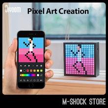 Divoom Timebox EVO Pixel Art Bluetooth Speaker Game Desk Light Decoration DIY LED Display Screen Board Friend Birthday Gift