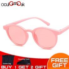 Популярные круглые солнцезащитные очки для мальчиков и девочек, брендовые дизайнерские Детские зеркальные солнцезащитные очки, УФ-защита, подарок для детей