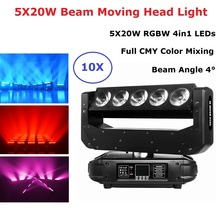 цена на LED 5X20W RGBW Moving Beam DMX512 Moving Head Light CMY Function Professional Dj Light Party Bar Lightshow Disco Effect Lights
