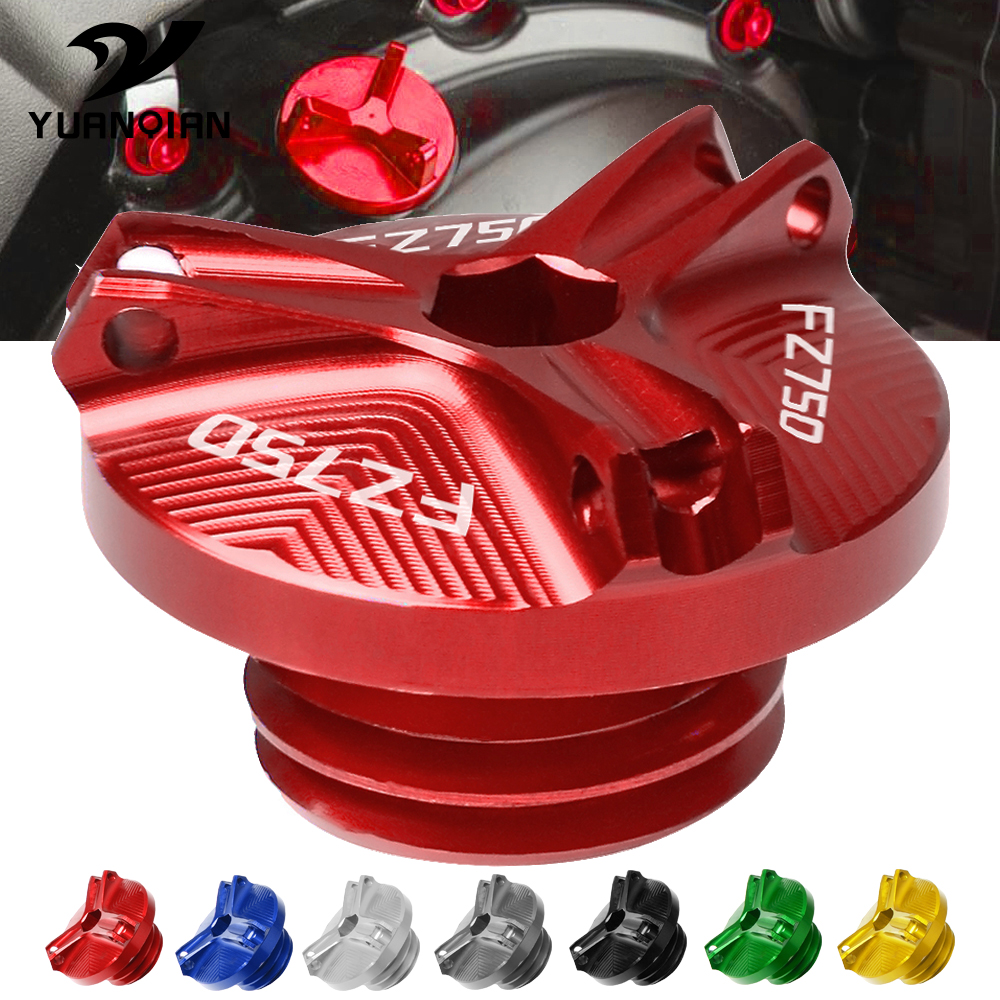 For Yamaha FZ700 FZ750 1986-1988 1987 <font><b>FZ</b></font> 700 <font><b>FZ</b></font> <font><b>750</b></font> Aluminum Motorcycle Accessories Engine Oil Tank Cap Oil Filler Cup Cover image