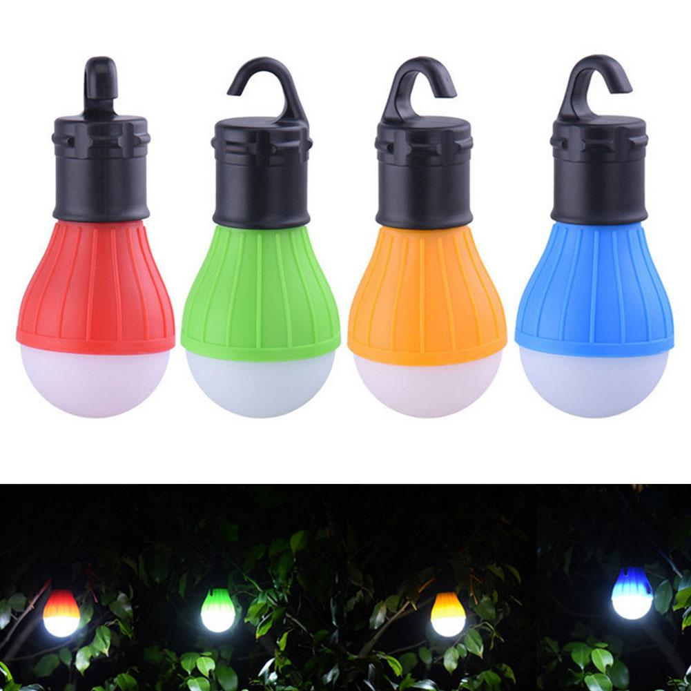Mini Portable Lighting Lantern Tent Light LED Bulb Emergency Lamp Waterproof Hanging Hook Flashlight Camping Light Use 3*AAA