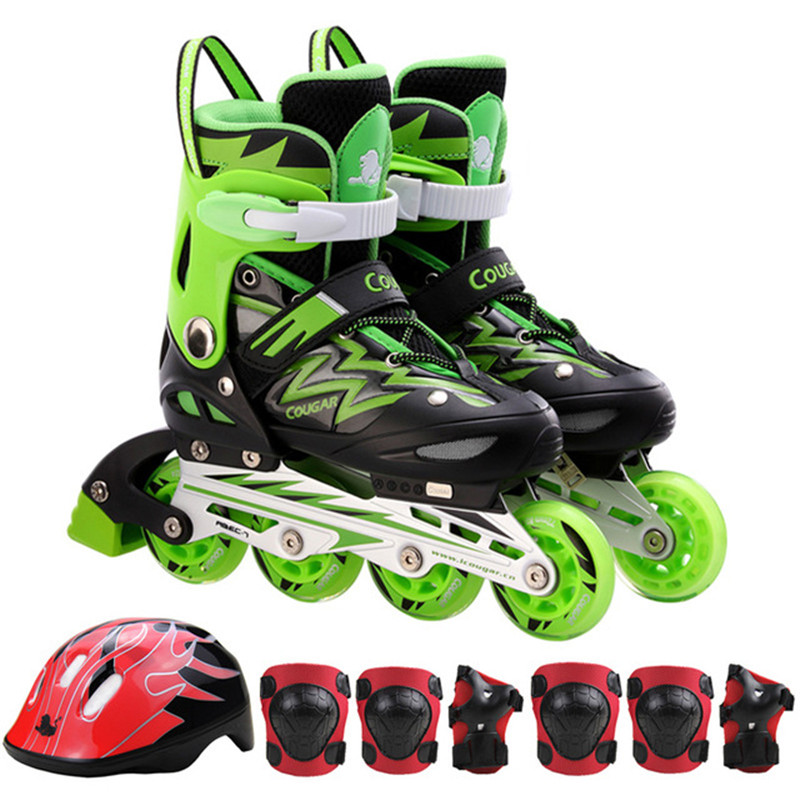 Roller Skates Kids Rollerblade Inline Skate Shoes Size Adjustable Children Skating Shoes Patins