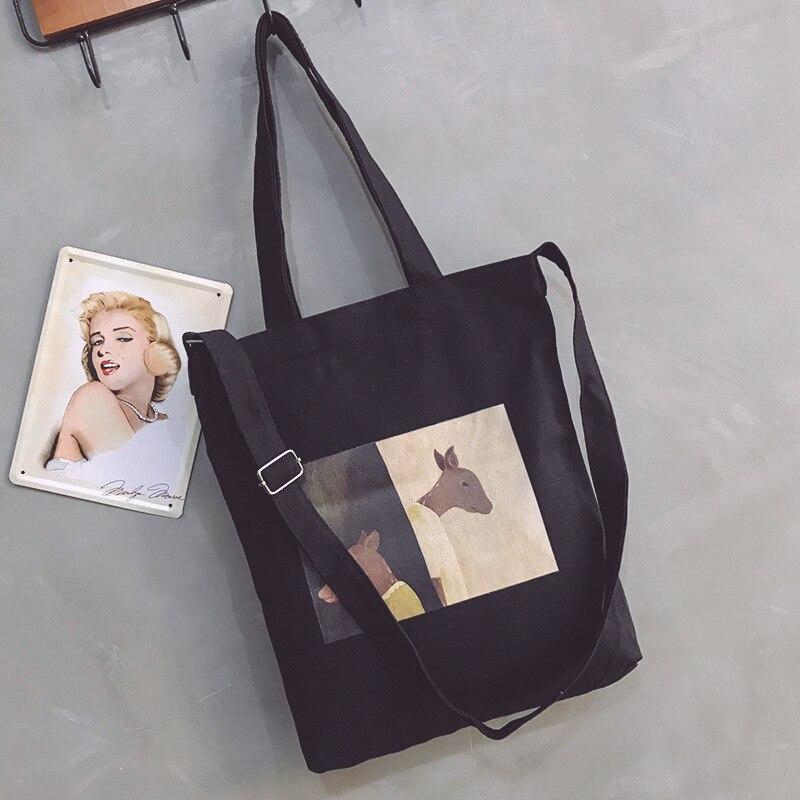 For Women 2019 Large Capacity Ladies Canvas Shoulder Bags Shopping Bag Tote Crossbody Bags Purses Casual Handbag Eco Shopper Sac