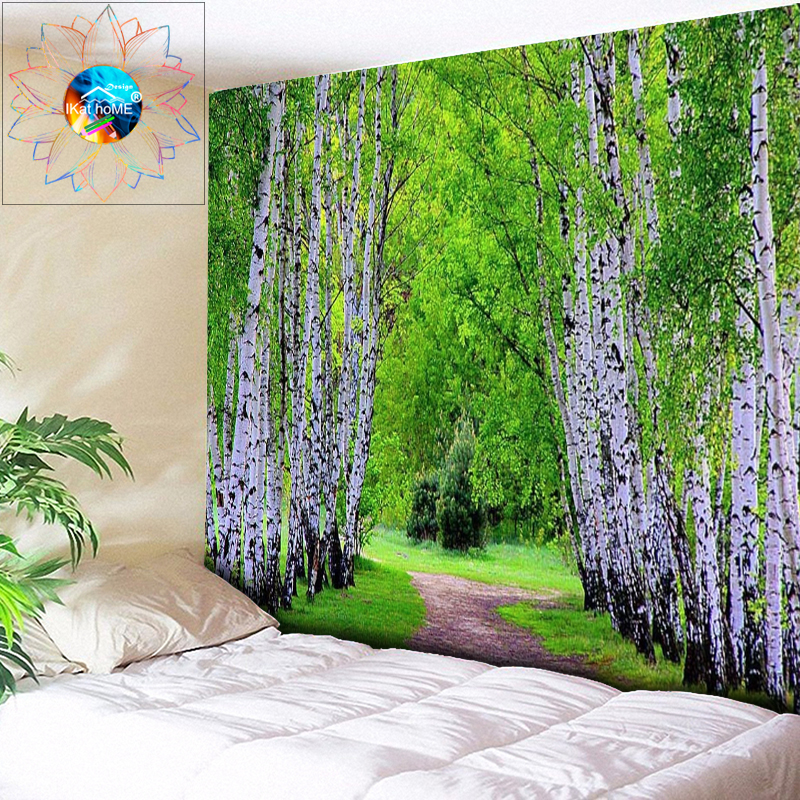 Large Wall Pictures Forest Tapestry Wall Hanging Bohemian Decor Psychedelic Wall Tapestry tapiz pared tela tenture murale tissus image