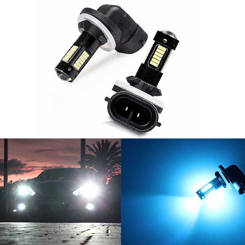 2pcs High Quality 880 881 H27 LED Fog Light Replacement Bulbs Car Foglight 12V White Amber Daytime Running Lights DRL Lamps