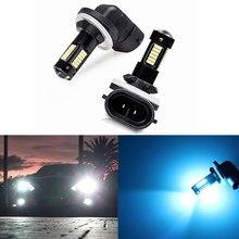 2 pezzi di alta qualità 880 881 H27 LED fendinebbia lampadine di ricambio fendinebbia per auto 12V bianco ambra luci di marcia diurna lampade DRL