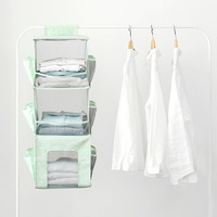 15 Pocket Hanging Storage Organizer Sundries Underwear Scok Organizer Hang Bag Wardrobe Closet Transparent Storage Bag