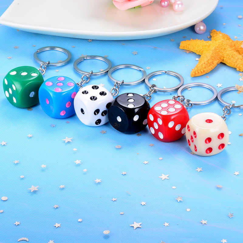 Dễ thương Kẹo Muticolor Xúc Xắc móc khóa túi Mặt dây chuyền sáng tạo vòng Chìa Khóa cho phụ kiện O rmen nữ nhỏ Tặng Mặt Dây chuyền móc chìa khóa
