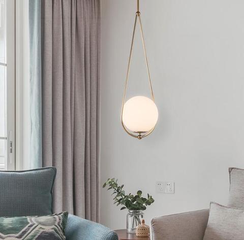 lustre bola de vidro lampadas de quarto