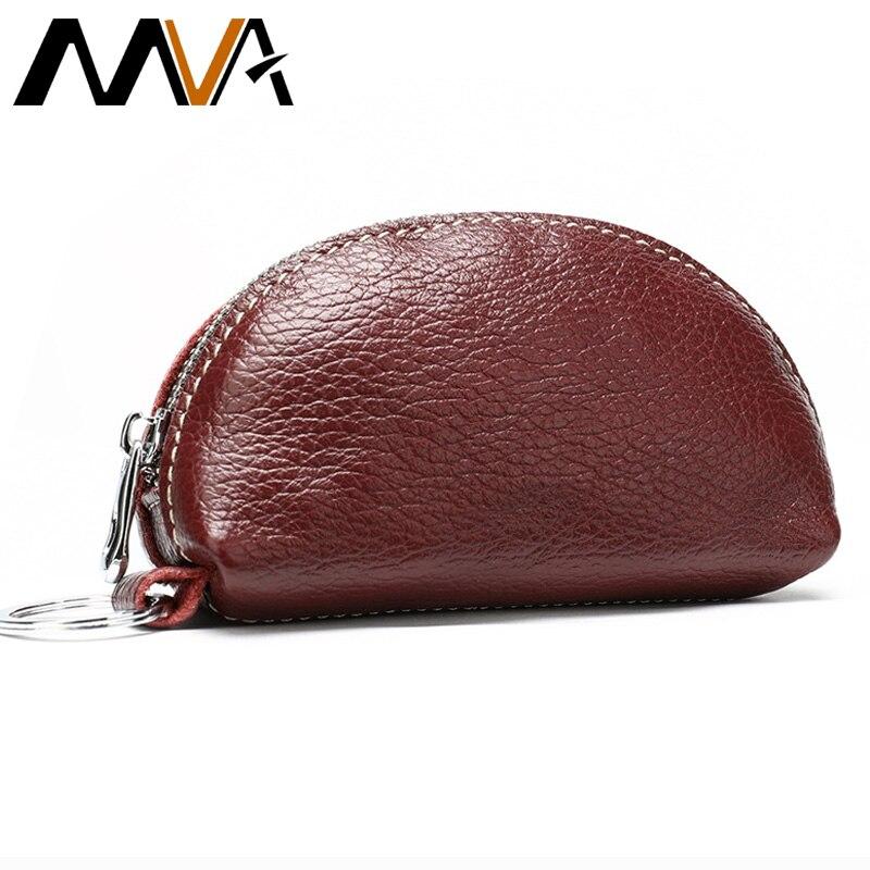 MVA Genuine Leather Wallet Women Coin Purse Men Short Wallets Leather Women Money Bags Male Small Wallets Mini Purse For Men