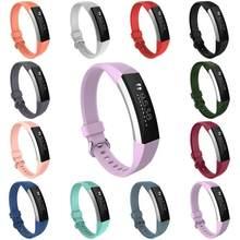 Banda de silicone substituição pulseira de pulso para fitbit alta hr relógio inteligente suporte correias acessórios