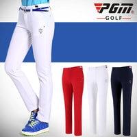 PGM Women Golf Pants Trousers Sportwear Female Slim Quick Dry Elastic Summer Thin Leisure Outdoor Sports Clothing Wear Pants