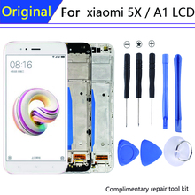 "Original 5.5"" For pantalla xiaomi mi a1 display in Mobile Phone LCDs with Frame Mi 5x LCD Touch Screen Digitizer Assembly Parts"