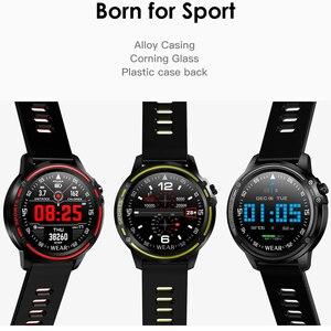Image 4 - Reloj inteligente L8 IP68 para Hombre, deportivo, resistente al agua, con control del ritmo cardíaco y de la presión sanguínea
