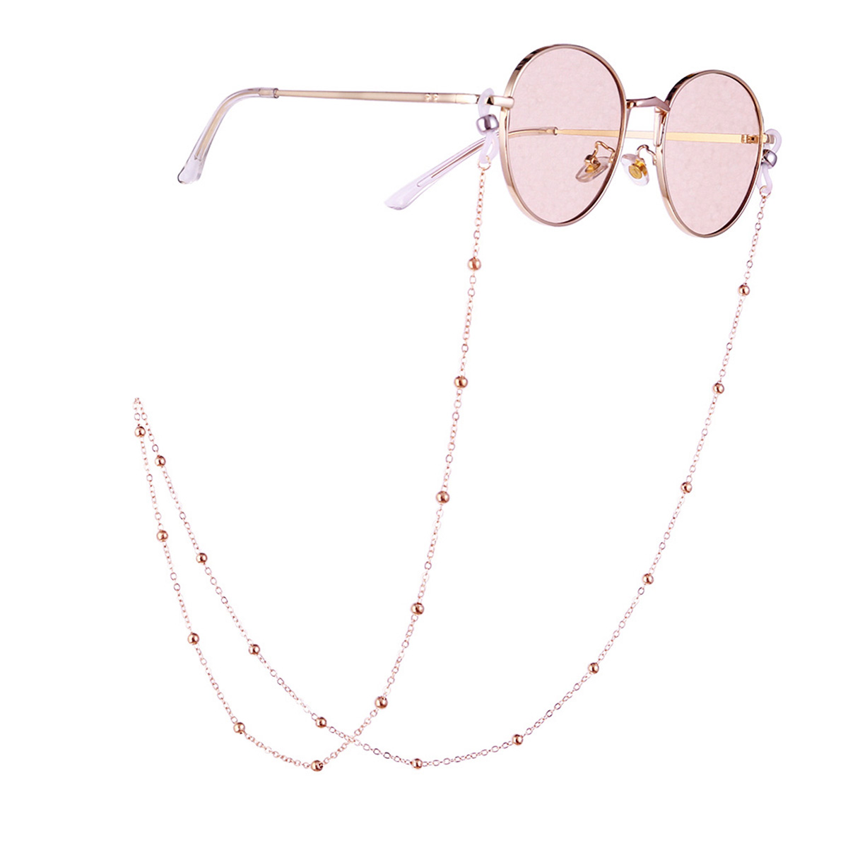 Glasses Chain Jewelry Ins Fashion Fresh Art Ladies Beads Hanging Neck Glasses Snow Chains 70CM 2019 New Hot