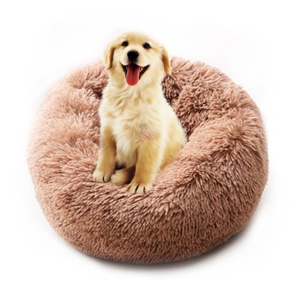 Super Soft Dog Bed Washable Long Plush Dog Kennel Deep Sleep Dog House Velvet Mats Sofa For Dog Chihuahua Dog Basket Pet Bed