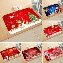 1 шт. 40*60 см Рождественский Санта-Клаус Противоскользящий коврик для кухонной комнаты декоративный ковер