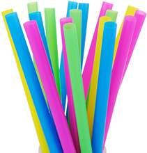 100 шт одноразовые пластиковые соломинки полипропиленовые многоцветные