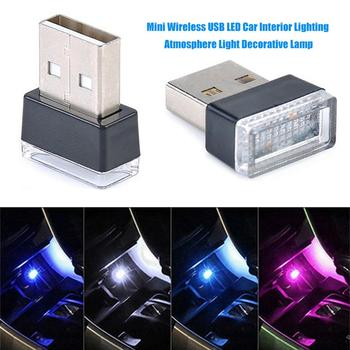 Portable Multifunctional USB LED Car Interior Night Light Decorative Lamp image