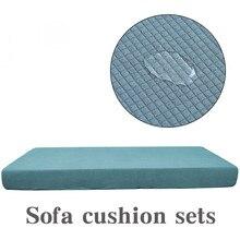 1-4 сиденья Водонепроницаемый диванная подушка для сидения чехол сплошной цвет протектор стула дивана эластичный чехол с защитой от соскальзывания чехол для дивана