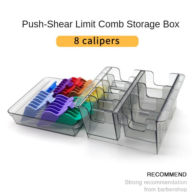 For WAHL Universal Clipper Caliper Box Guide Limit Comb Storage Box Hair Clipper Rack Organizer Case Salon Barber Tool G0313
