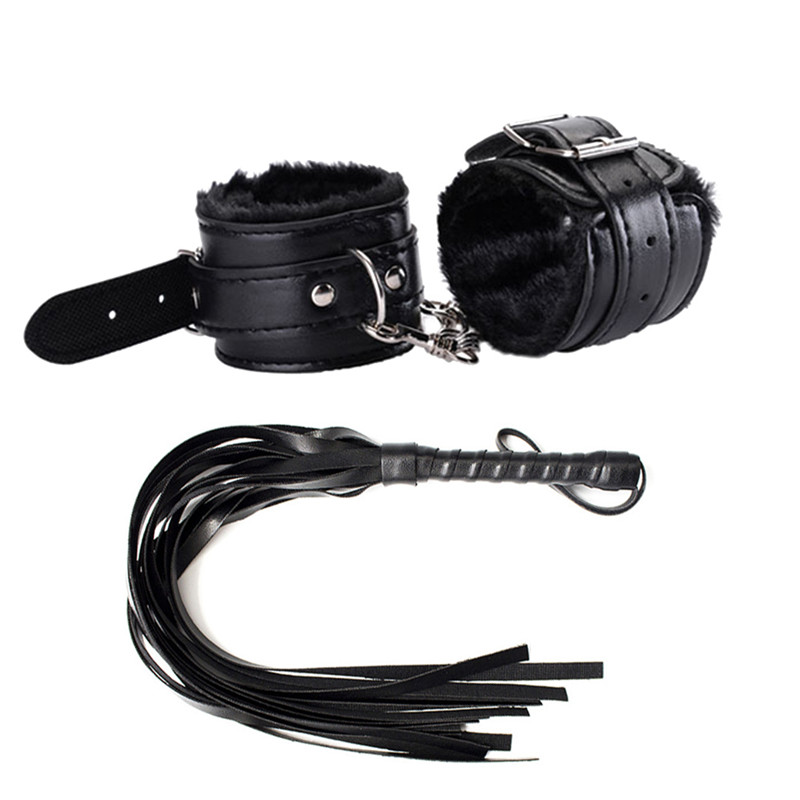 Erotic Accessories Adult Games Bdsm Bondage Set Restraints Handcuffs Whip Slap Spanking Sword Handle Lash Fetish Flogger Queen
