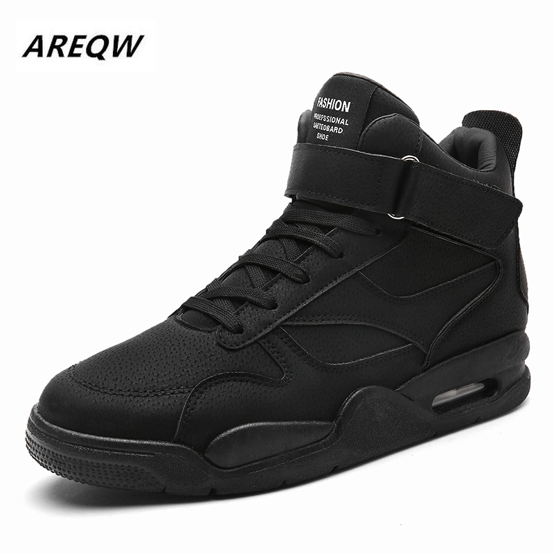 New Spring And Autumn High To Help Men's Korean Sports Shoes Round Head With Non-slip Wear-resistant Trend Men's Shoes 2019