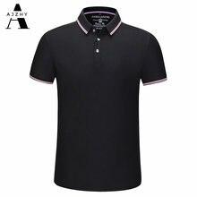 Повседневная рубашка поло для мужчин модные однотонные Летние