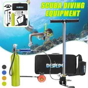 7pcs/set DEDEPU 1L Scuba Diving Tank Oxygen Cylinder with Respirator Snorkeling Diving Mask Hand High Pressure Pump(China)