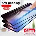 Privatsphäre Display-schutzfolien für Redmi Hinweis 10 9 Pro Max 9s 9t 8 7 Anti-Spy Schutz glas für Xiaomi Mi Poco X3 NFC M3 F2 Pro F3