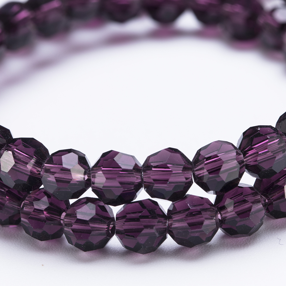 3 4 6 8 MM Round Transparent Faceted Glass Ball Beads For DIY Bracelet Jewelry Making Accessories Football Crystal Spacer Bead