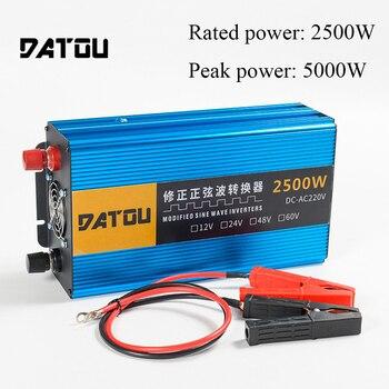 цена на 5000W Car Power Inverter Portable Charger Converter Adapter Transformer Inverter 24v to 220v Rated 2500W
