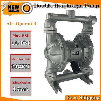 """Bomba de diafragma doble operada por aire, transferencia de diafragma de petróleo, fluidos de bomba neumática de baja viscosidad, 1 """"entrada y salida 24GPM 115PSI"""