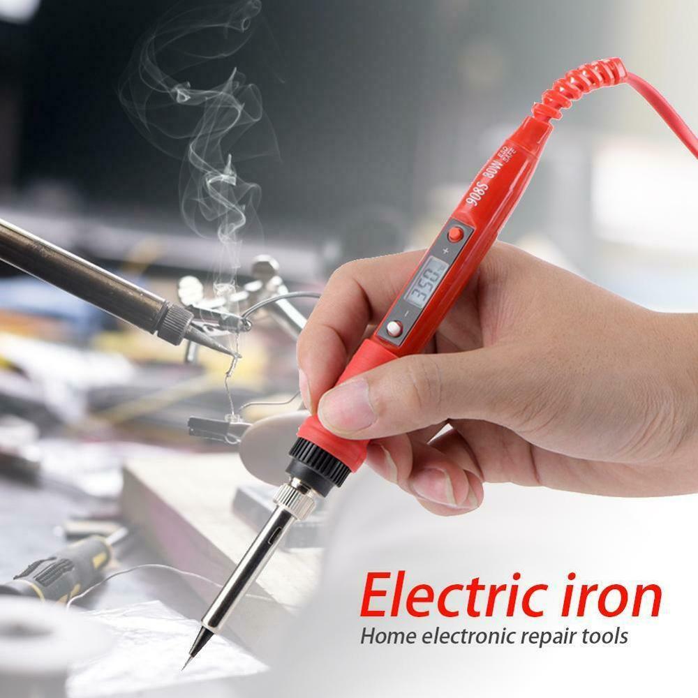 Electric Soldering Iron Welding Pen 80W Digital Temperature Adjustable ABS Alloy Material Weld Tin Welding Pen EU/US Plug