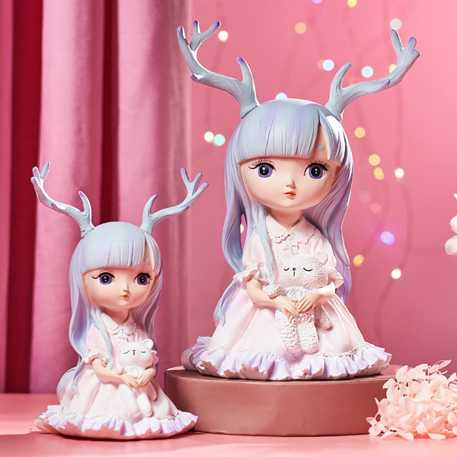 Cute Angel Baby Figurines Fairy Garden Miniatures Resin Ornaments Creative Home Decoration Accessories Birthday Gift  Room Decor 5