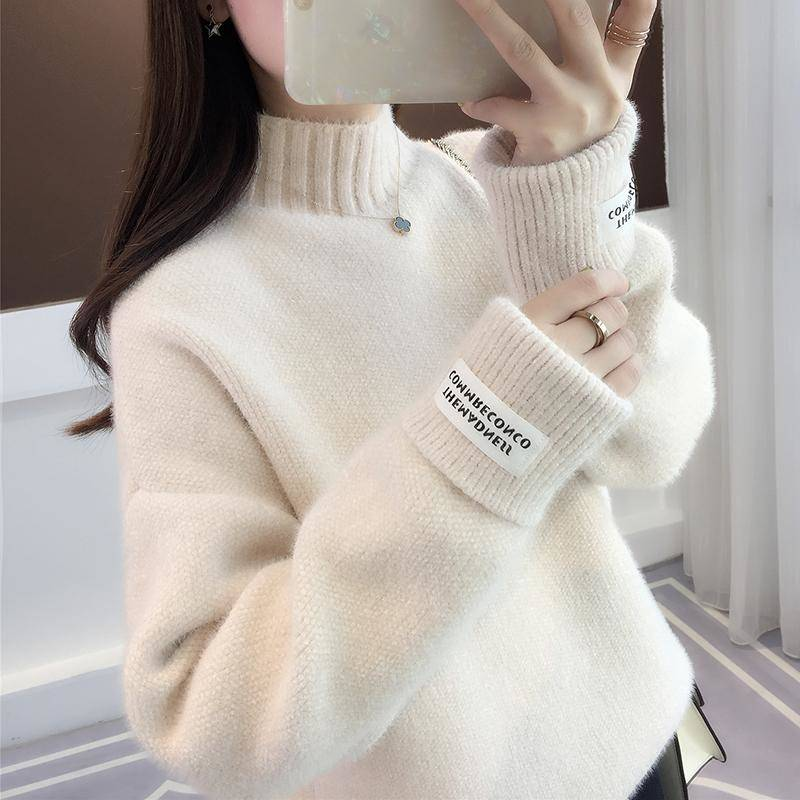 SURMIITRO Knitted Warm Sweater Female For Autumn winter 19 Ladies Long Sleeve Women Turtleneck Tricot Pullover Blue Jumper 14