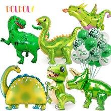 Toys Tyrannosaurus Jungle Dragon Birthday-Party 4D Kids Balloons Decors Foil Jurassic