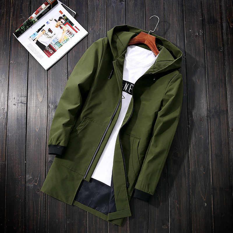 و السترات الخضراء الرجال المعاطف سترة واقية الرجال عارضة مقنعين سترة حجم كبير 5XL أبلى معطف الرجال الملابس FYY692