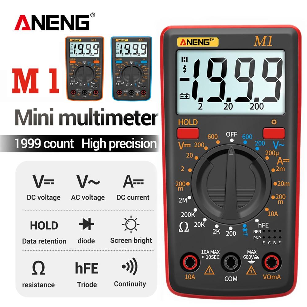 ANENG M1 мультиметр цифровой тестер транзистор тестер мультиметры тестер конденсаторов мултиметр Мультиметр мини щуп|Мультиметры|   | АлиЭкспресс