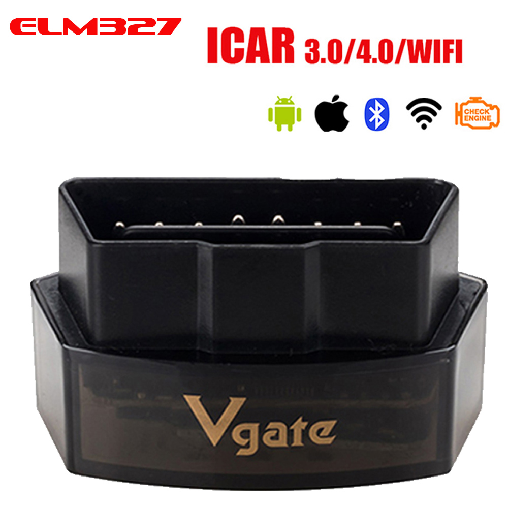 Vgate iCar Pro <font><b>Bluetooth</b></font> <font><b>4.0</b></font>/3.0/WIFI OBD 2 Scanner For Android/IOS Auto <font><b>Elm</b></font> <font><b>327</b></font> OBD Car Diagnostic Tool ELM327 V2.1 Code Reader image