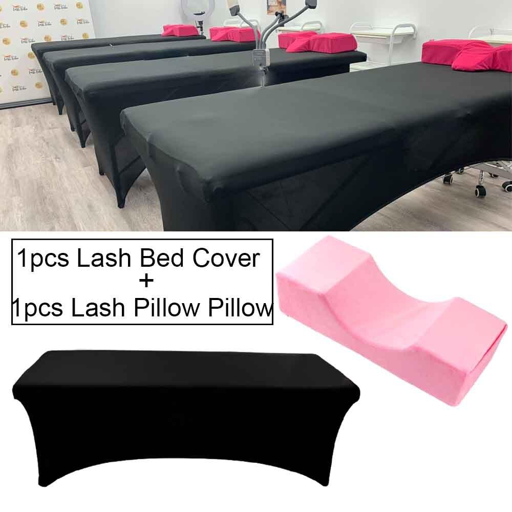 Grafting Eyelash Pillow Memory Foam Neck Lash Pillow And Elastic Eyelash Bed Cover Sheets For Beauty Salon Eyelashes Makeup Tool