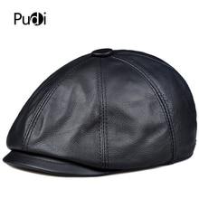 Pudi man real cow leather cap hat 2019 winter Cabbie newsboy caps golf hunting hats HL914 pudi a59360 women winter 30