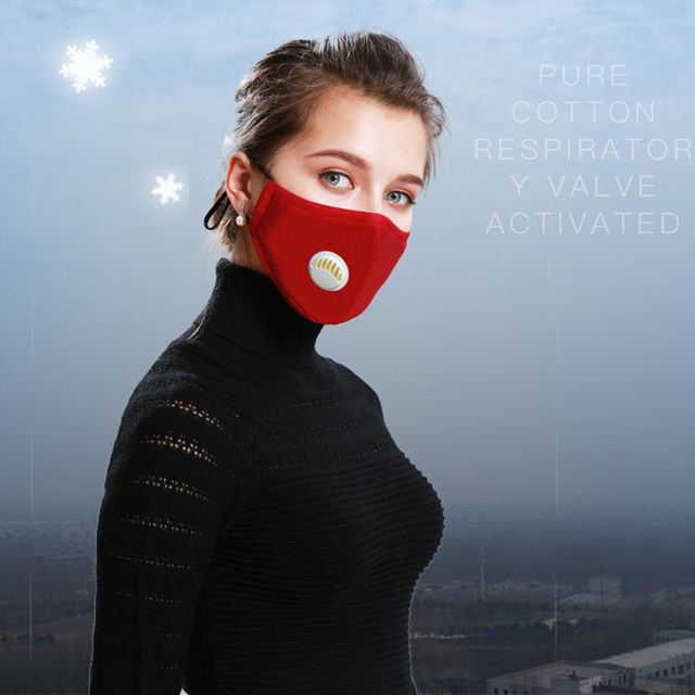 1Pcs Mask Respirator Washable Reusable Masks Cotton Unisex Mouth Muffle for Travel/ Cycling 5
